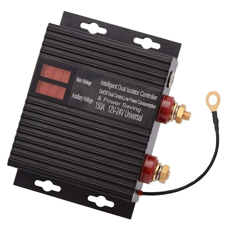 معزل ذكي ببطارية مزدوجة بقدرة 150 أمبير ، مرحل حساس للجهد 12 فولت/24 فولت للمركبة ATV ، UTV ، RV ، شاحنة