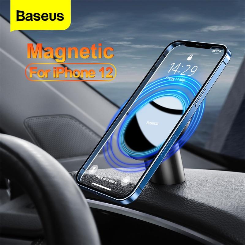 Baseus-حامل هاتف خلوي مغناطيسي عالمي للسيارة ، iPhone 12 Pro Max ، حامل هاتف ذكي مع شبكة تهوية