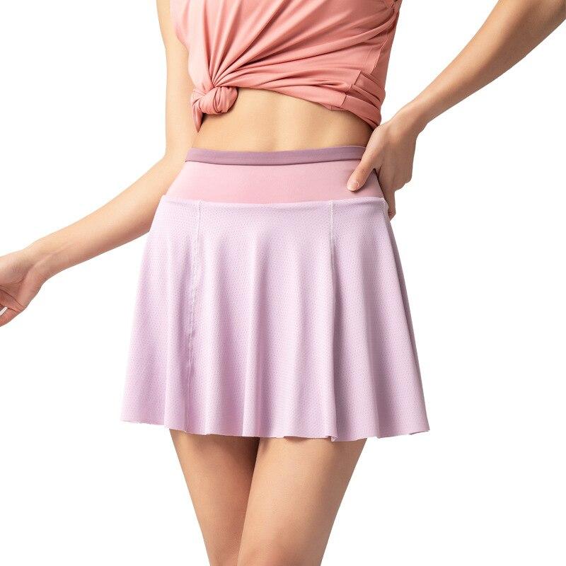Women's Fitness Skort Summer Anti-glare Sports Shorts Outdoor Quick-drying Running Breathable Gym Training Skirt
