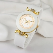 Reloj Mujer 2021 New Watch Women Famous Brand Luxury Watches Soft Silicone Strap Casual Ladies Dress