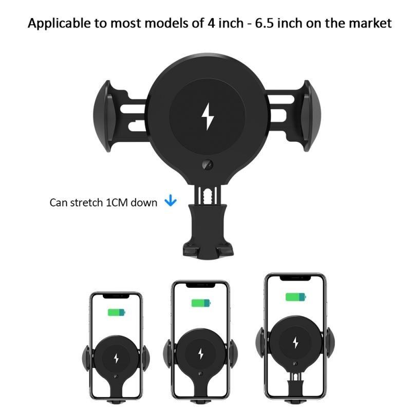 2019New X9 soporte de inducción automática del teléfono móvil del vehículo 10W soporte de salida para el cargador inalámbrico del vehículo accesorios del coche