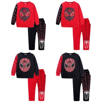 Shangku Kids Boy's Suit New Style for Autumn and Winter Cartoon Chao Man Spider Xia Children's Clothes