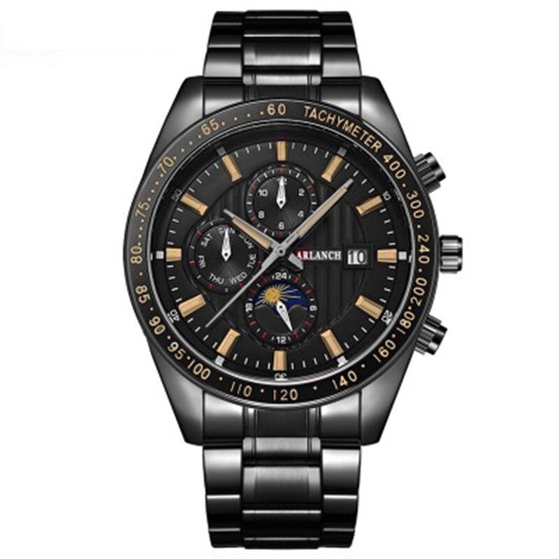 New calendar Mens Watches Top Luxury waterproof men Sport Wristwatch Stainless steel Quartz Watch erkek saat Relogio Masculino