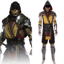 Game Mortal Cosplay Scorpion Cosplay Costume Uniform Suit For Adult Men Women Halloween Carnival Costumes