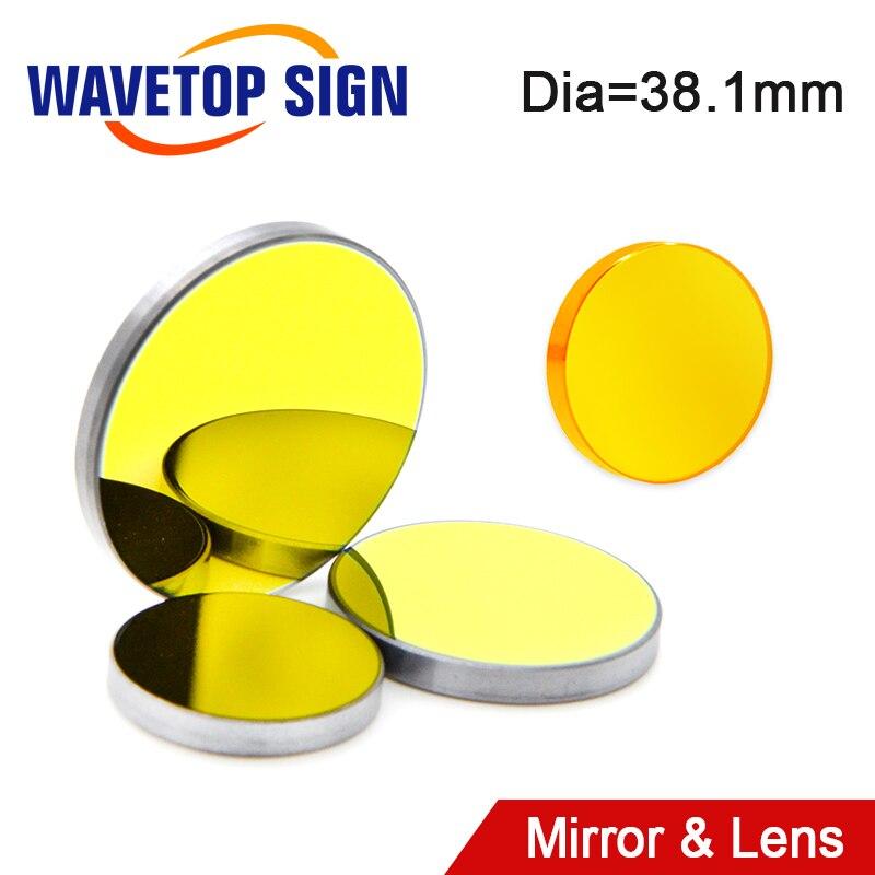 WaveTopSign USA CVD ZnSe Fokus Objektiv Durchmesser 38,1mm SI / MO Reflektieren Spiegel D 38,1mm Für Co2 Hohe power Laser Schneiden Maschine