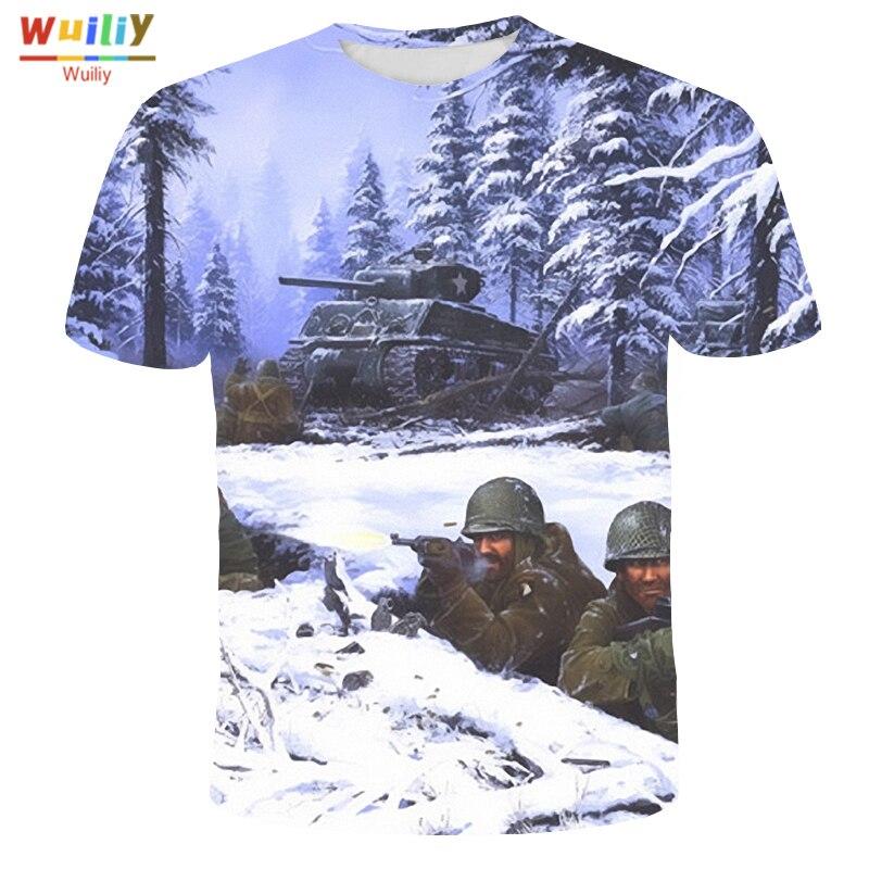 Camiseta con estampado 3D de las fuerzas aliadas para hombre y mujer,...