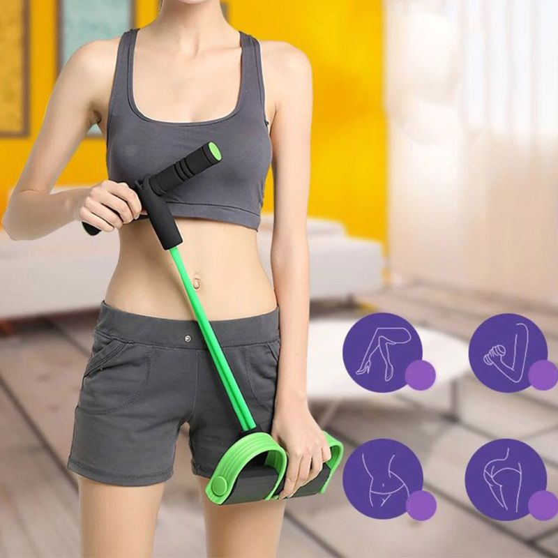 Multifunction Fitness Pedal Exerciser Sit-up Exercise Band Elastic Pull Rope Equipment Tummy Bodybuilding Tension Rope