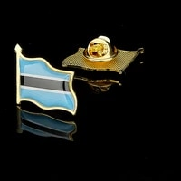 african country botswana brooch flag lapel pin shape badge jackets jewelry for kids women collectible gifts