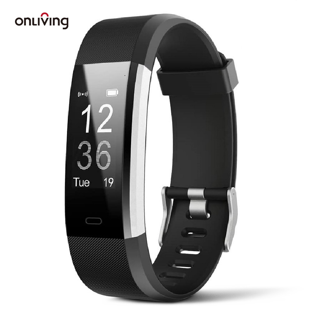 Onliving Smart Watch Fitness Tracker Wristband Heart Rate Blood Pressure Smart  Band Bracelet Monitor Health For IOS and Android smart bracelet health couple smart band heart rate blood pressure monitor fitness tracker sports watch bluetooth for android ios