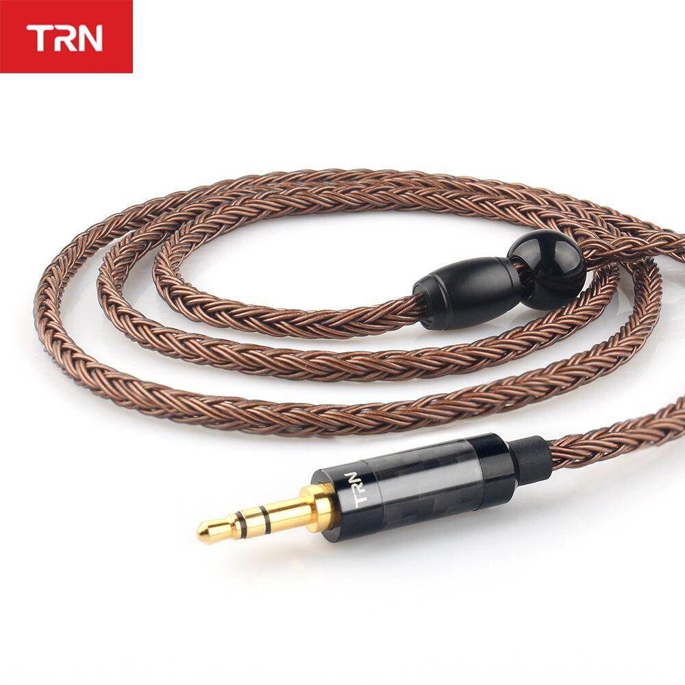 TRN T2 16 ядер наушников посеребренный кабель HIFI обновленный кабель 3,5/2,5/4,4 мм разъем MMCX/2Pin разъем для TRN V80 V90 V10 V60