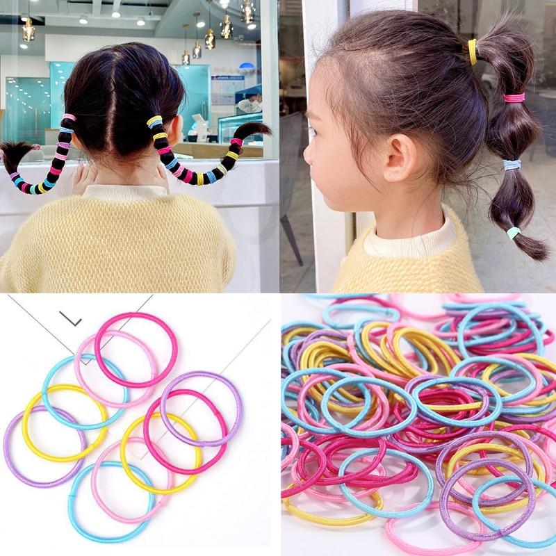 Girls Elastic Rubber Band Headband Styling Hair Tools Hair Rope Gum for Girls Scrunchies Hair Ties DIY Hair Braiding Accessories