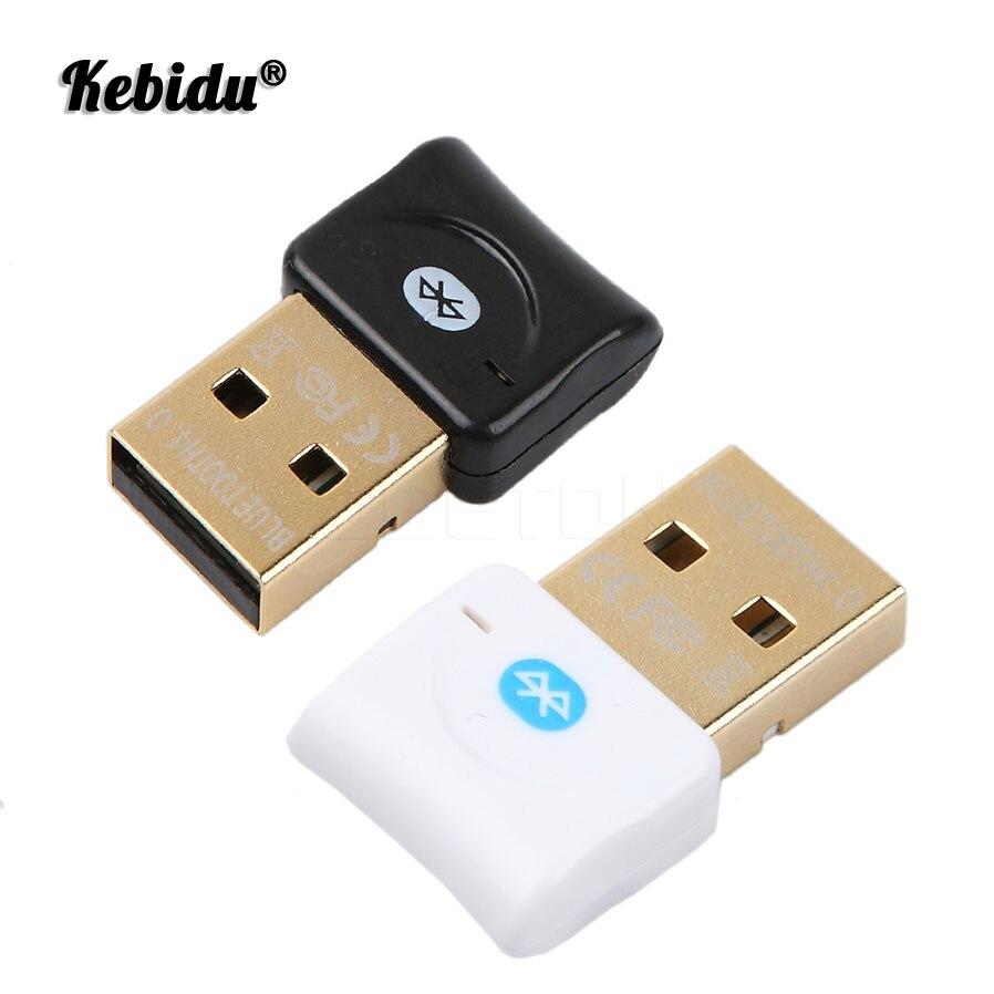 Kebidu-Adaptador de Bluetooth Transmisor Receptor USB 4,0, Dongle inalámbrico para auriculares, Receptor de música para PC, Adaptador de Audio Bluetooth