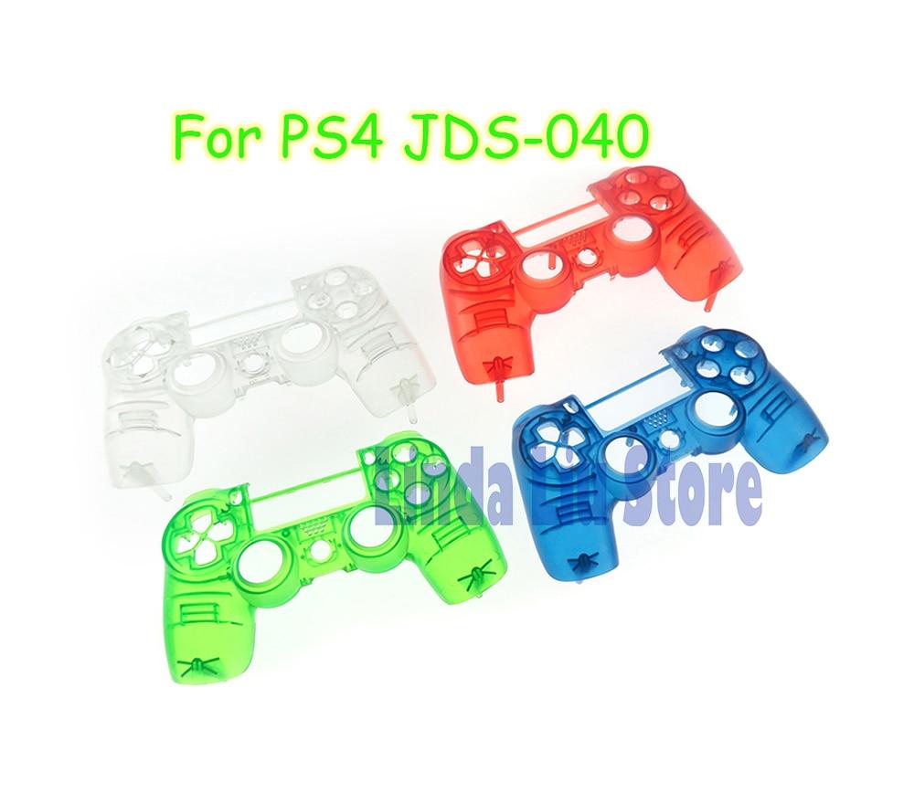 40 piezas de jds-040 de la cubierta frontal de la placa frontal de la cubierta superior transparente de la cubierta para el controlador ps4 pro jds040 jdm040