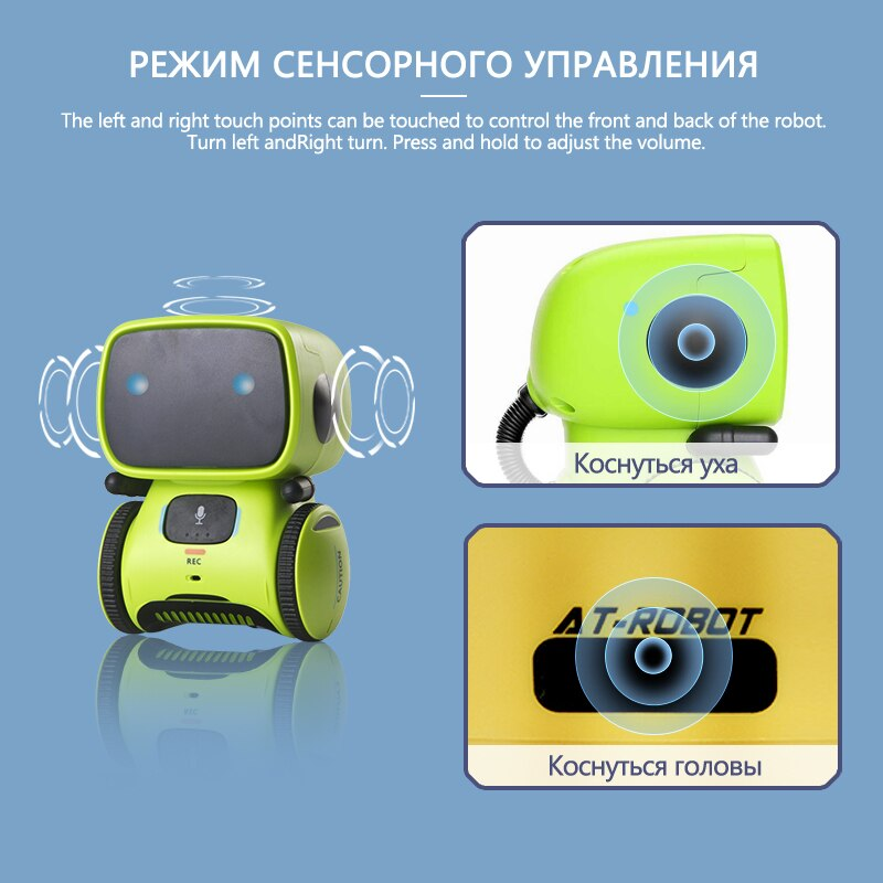 New Russian Robot Toy for Kids Dance Voice Command Touch Control Toys Interactive Robot Cute Toy Smart Robotic for kids Gifts enlarge