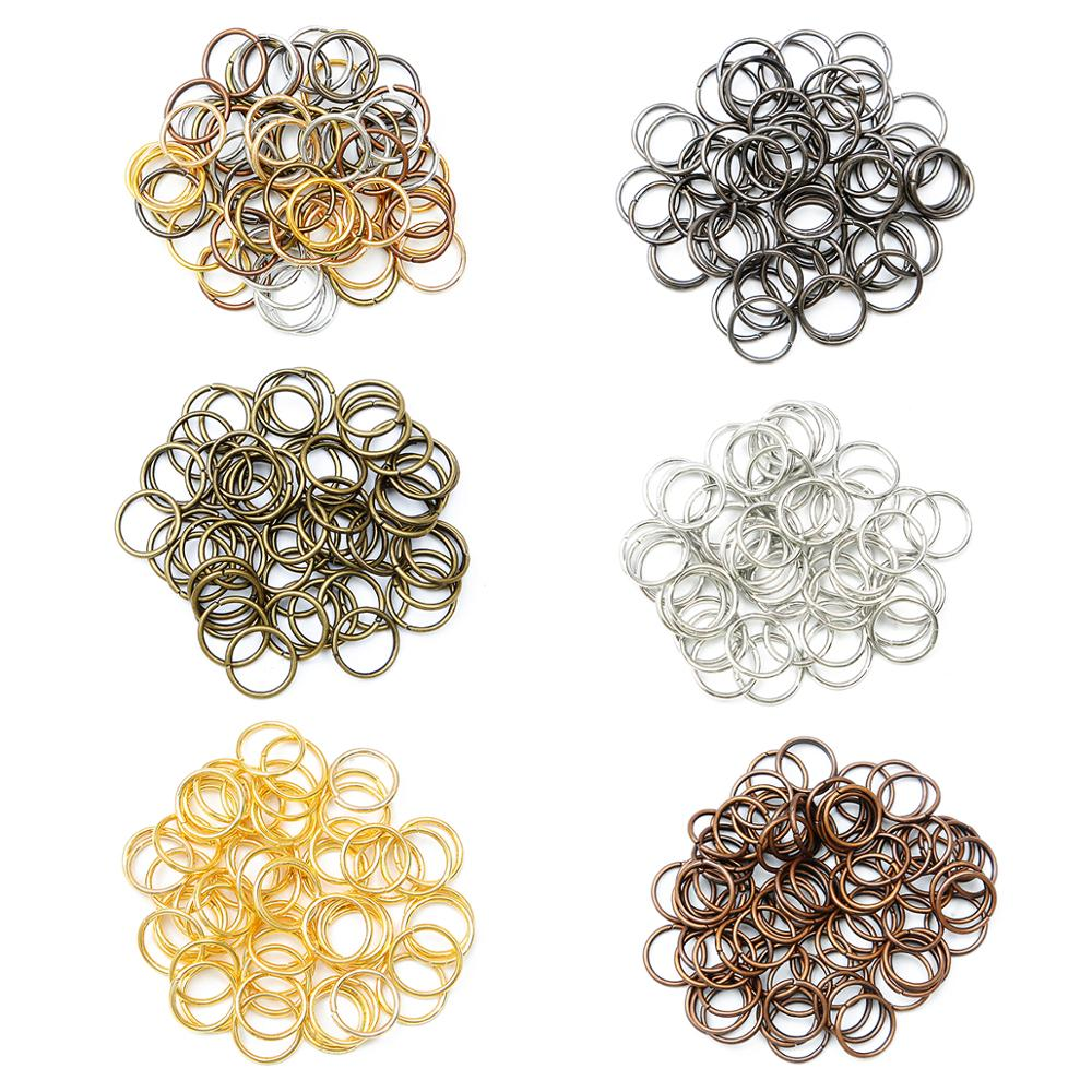 500pcs/lot 4 5 6 8 10 mm Jump Rings Split Rings Connectors For Diy Jewelry Finding Making Accessorie