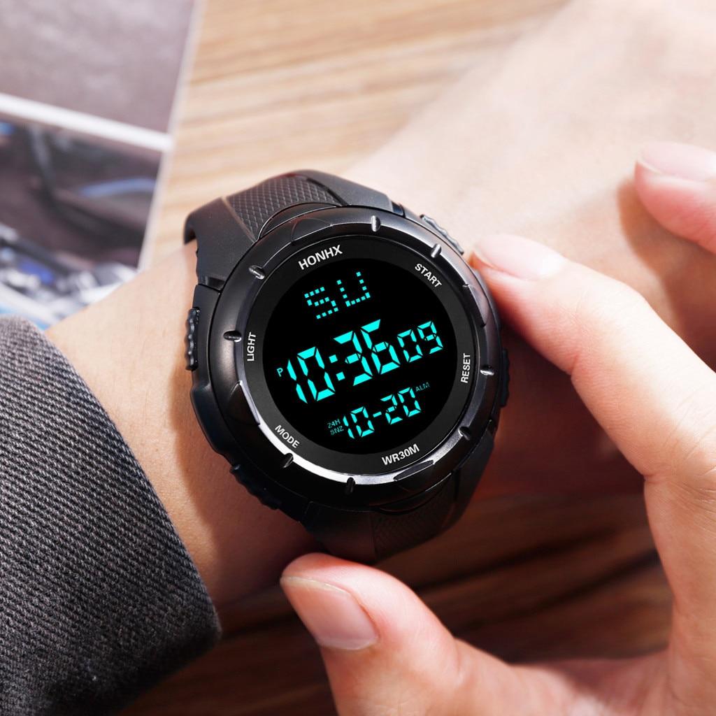 Reloj para hombre HONHX de lujo Reloj Digital LED para hombre Reloj electrónico para hombre con fecha de deporte al aire libre Montre homme Zegarek mforme @ 13