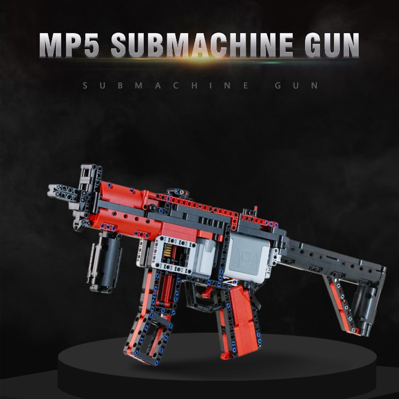 m4a1 carbine plastic airsoft air guns submachine technic building block brick fit for legos kids outdoor game model pubg toy gun MOC Upgraded Electric Motor Power Toys Compatible Brands High-Tech MP5 Submachine Gun Model Building Block DIY Brick Boys Gifts