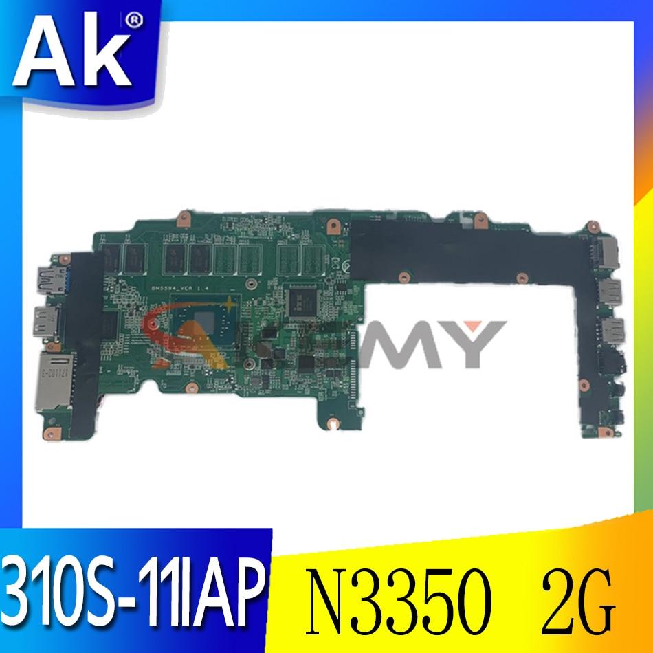 Akemy BM5594 5B20M36295 BM5594_VER لينوفو 310S-11IAP اليوغا 310-11IAP اللوحة الأم للكمبيوتر المحمول 64G SSD SR2Z7 N3350 2G RAM
