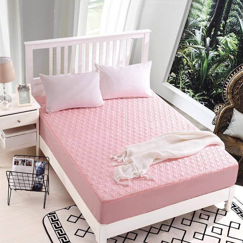 ملاءة سرير فندق قطعة واحدة نحى سميكة مفرش مبطن غطاء للحماية غطاء مرتبة ملاءات السرير ملاءات النسيج