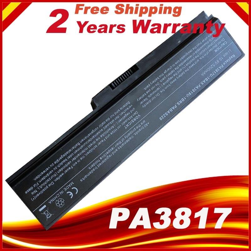A HSW preço Especial da bateria para TOSHIBA PA3817 PA3817U-1BRS PA3816U PA3818U Satellite L645 L655 L700 L730 L735 L750 L755 ST Shippi