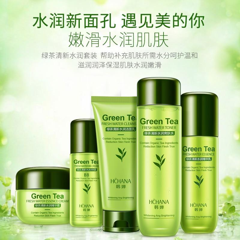 Искусственный зеленый чай, освежающий Глубоко Увлажняющий Питательный Укрепляющий Уход за кожей лица в Корейском стиле