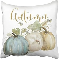 accrocn pillowcases decorative autumn fall blue gray pumpkin watercolor throw pillow covers case cases cover cushion sofa size