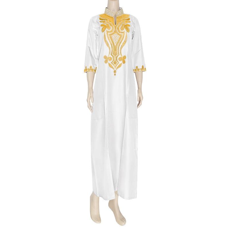 Africano Bazin Riche Vestido Dos Muçulmanos para As Mulheres Cera Tradicional Robe África Ancara Bubu Kaftans Vestido de Mulher Bordado Vestidos Mulheres