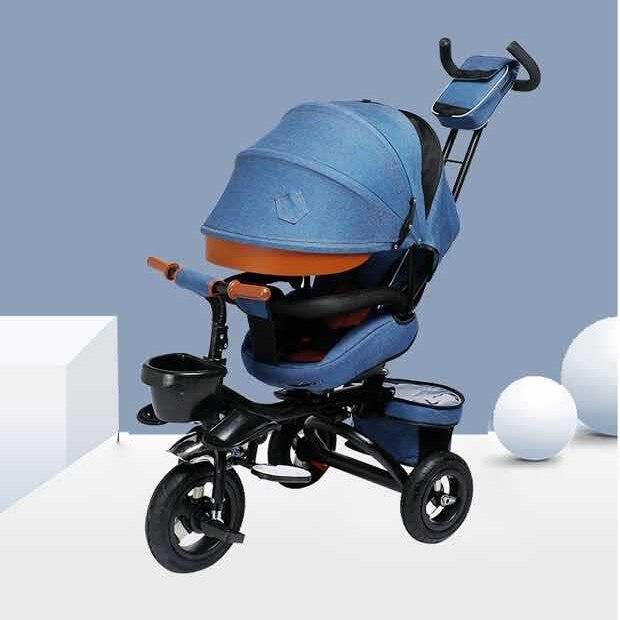Складной и лежачий детский трехколесный велосипед LazyChild, детская коляска, светильник велосипед, трехколесный велосипед