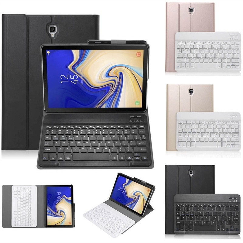 Keyboard For Samsung Galaxy Tab A SM-T590 T595 T597 10.5 Inch 2018 Case PU Leather Flip Wireless Keyboard Cover Tab A T590 T595