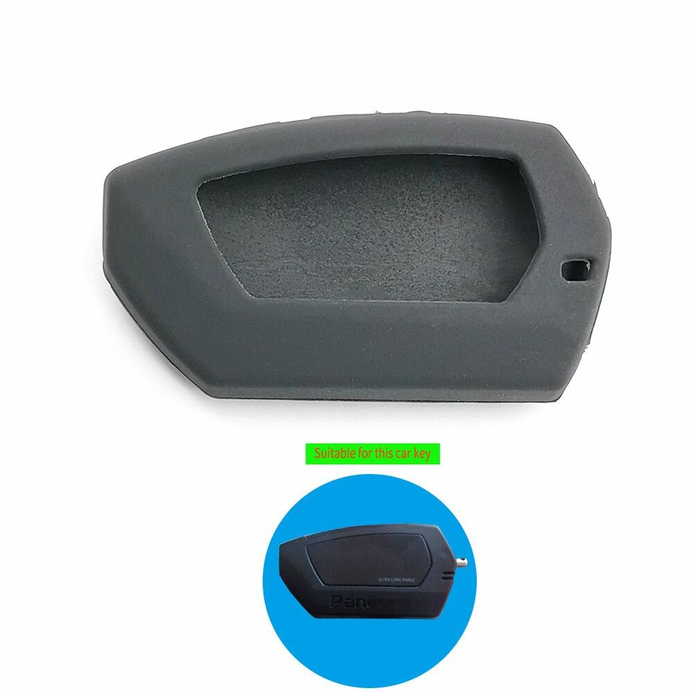Nuevos estilos LCD bidireccional remoto llavero de cuero cubierta de la caja para Pandora DX-90BT DX-91Lora versión para Rusia 2 sistema de alarma para coche