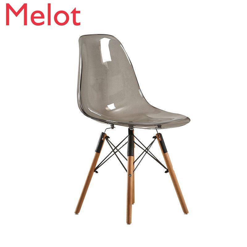 كرسي شفاف الشمال الطعام كرسي بسيط كرسي من البلاستيك الإبداعية كرسي القهوة صور كرسي جودة عالية ومريحة دائم