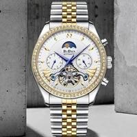 mens watches top luxury waterproof hollow mechanical watch tourbillon full steel automatic multifunction clock rel%c3%b3gio masculino