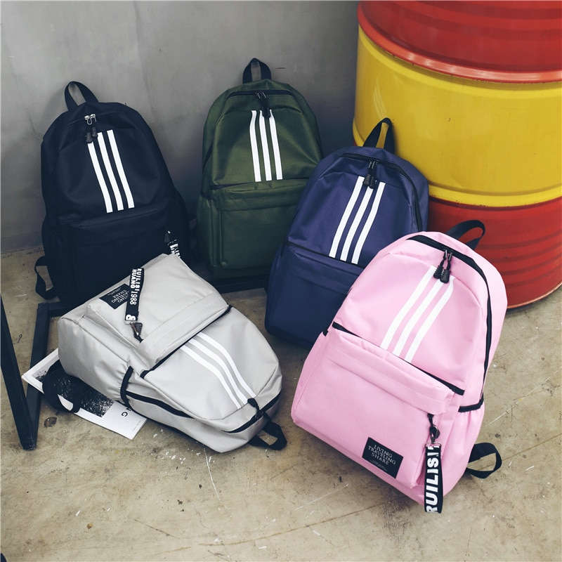Backpack Men's Backpack Large Capacity Couple's University High School Student Bag Campus Travel Pop