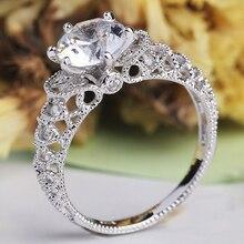 Clásico de encantos de cristal de color de plata infinito Anillos para las mujeres hueco onda anillo de bodas romántico Anillos joyería regalos