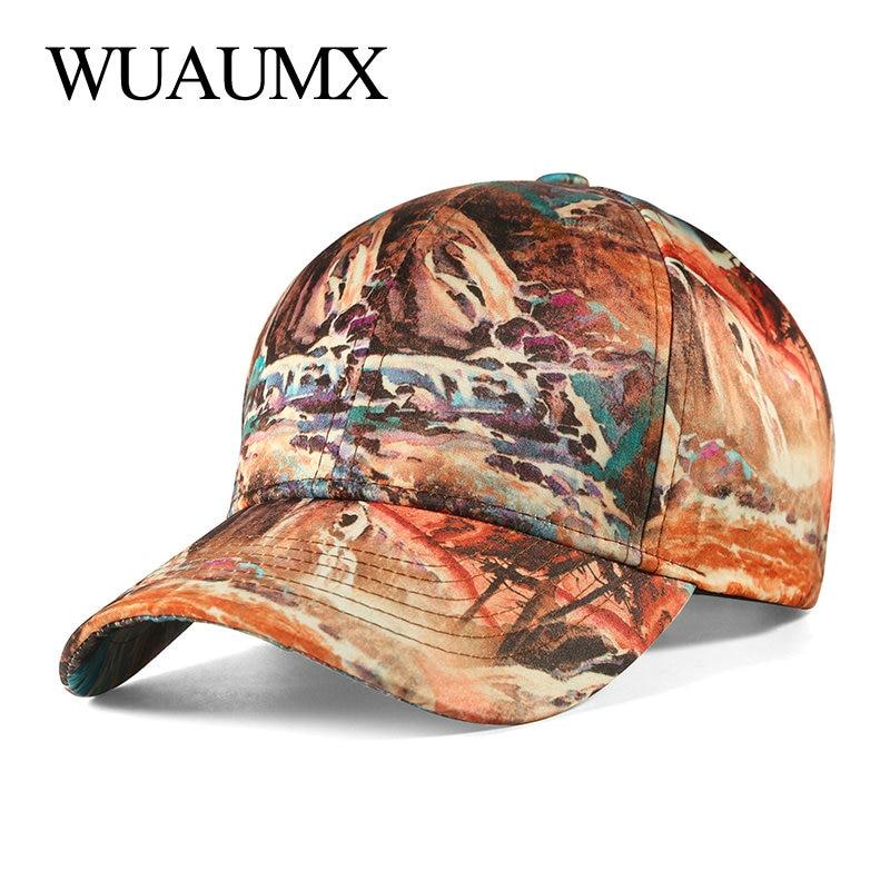 Высококачественная повседневная бейсболка Wuaumx с 3D принтом для женщин, регулируемая бейсболка, Мужская бейсболка, бейсболка, Кепка-тракер, о...