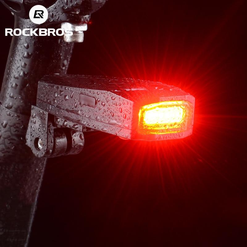 Luz de bicicleta ROCKBROS, resistente al agua, antirrobo, luz trasera inteligente, alarma antirrobo, control remoto inalámbrico, 120Db, luz trasera roja segura para bicicleta