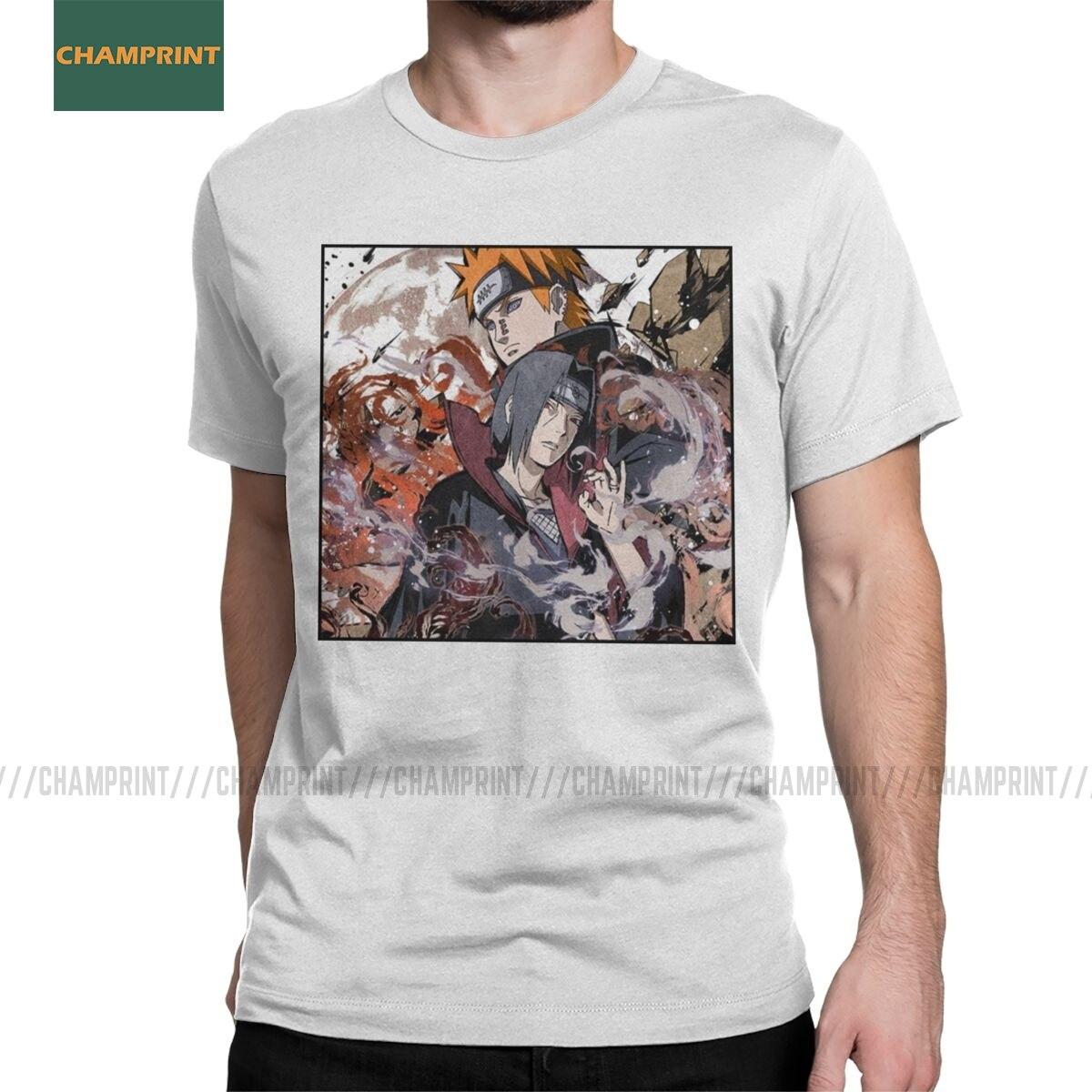 Hombres A Painful Hatred Naruto camisetas Akatsuki Pein Anime Itachi Uchiha Sasuke camisetas de algodón de manga corta Tee regalo Idea camiseta