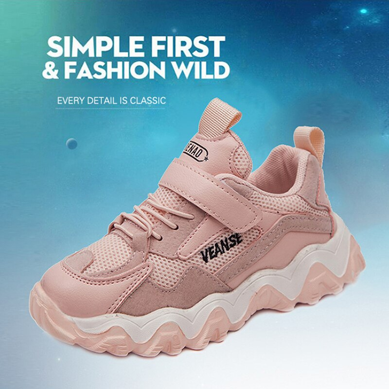 New Spring Kids Shoes Breathable Non-Slip Boys Girls Sport Shoes Soft Sole Mesh children running sne