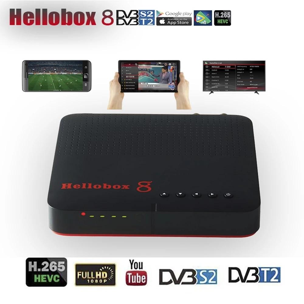 Hellobox 8 Satellite Receiver DVB S2x DVB-T2 H265 HEVC Satellite Receiver Tv Tuner 1080P VOLLE HD Box Unterstützung Youtube dual Tuner