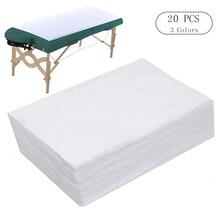 Drap de lit de Spa pour Table de Massage jetable   10/20 pièces, couverture de lit étanche, tissu Non tissé, 180x80 CM
