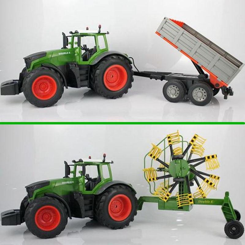 RC Truck Farm Tractor 2.4G Remote Control Trailer Dump/Rake 1:16 High Simulation 38.5CM Construction Vehicle Children Toys Hobby enlarge