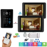 video intercom 7 inch lcd wifi wireless video door phone doorbell rfid password camera intercom kit app remote unlock door lock