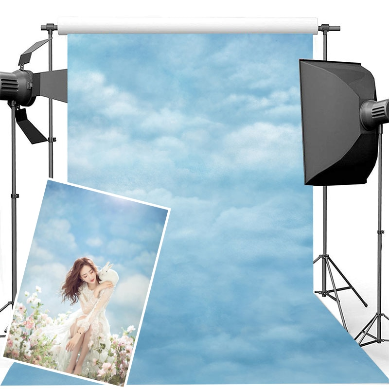 photography background soul train photo booth props party decorations disco birthday banner photo background tv dance background Blue Sky and White Clouds Photography Background Vinyl Birthday Photo Props Studio Booth Background