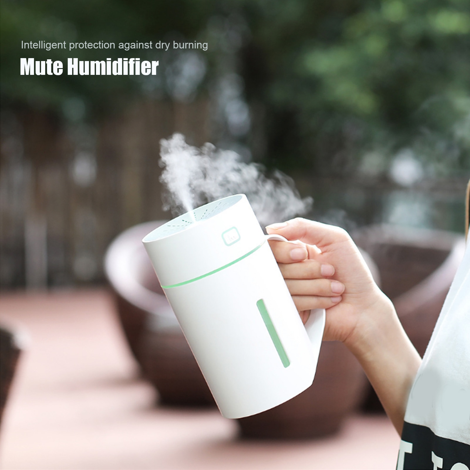 420ml Portable Mini Humidifier Aroma Diffuser USB Mute Desktop Air Humidifier with Night Light for Home Office Humidificadores