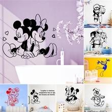 Autocollant mural en vinyle avec personnage de dessin animé Mickey   Décoration pour chambre denfant, décoration naturelle décoration pour chambre de lit décoration, accessoires de décoration pour chambre de lit