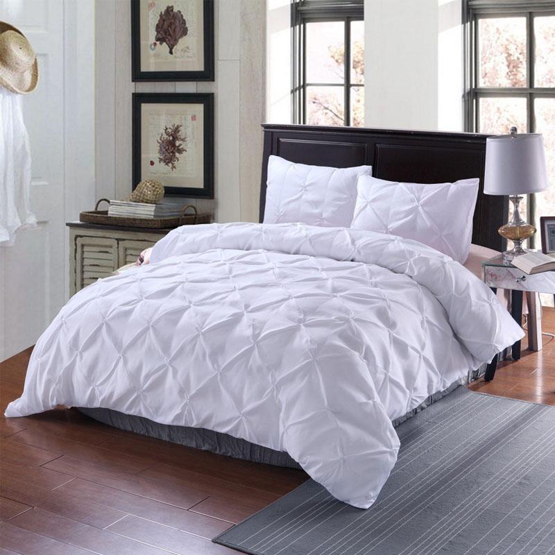 45 طقم بياضات سرير ، سرير كوين ، أبيض ، طقم سرير فاخر حديث