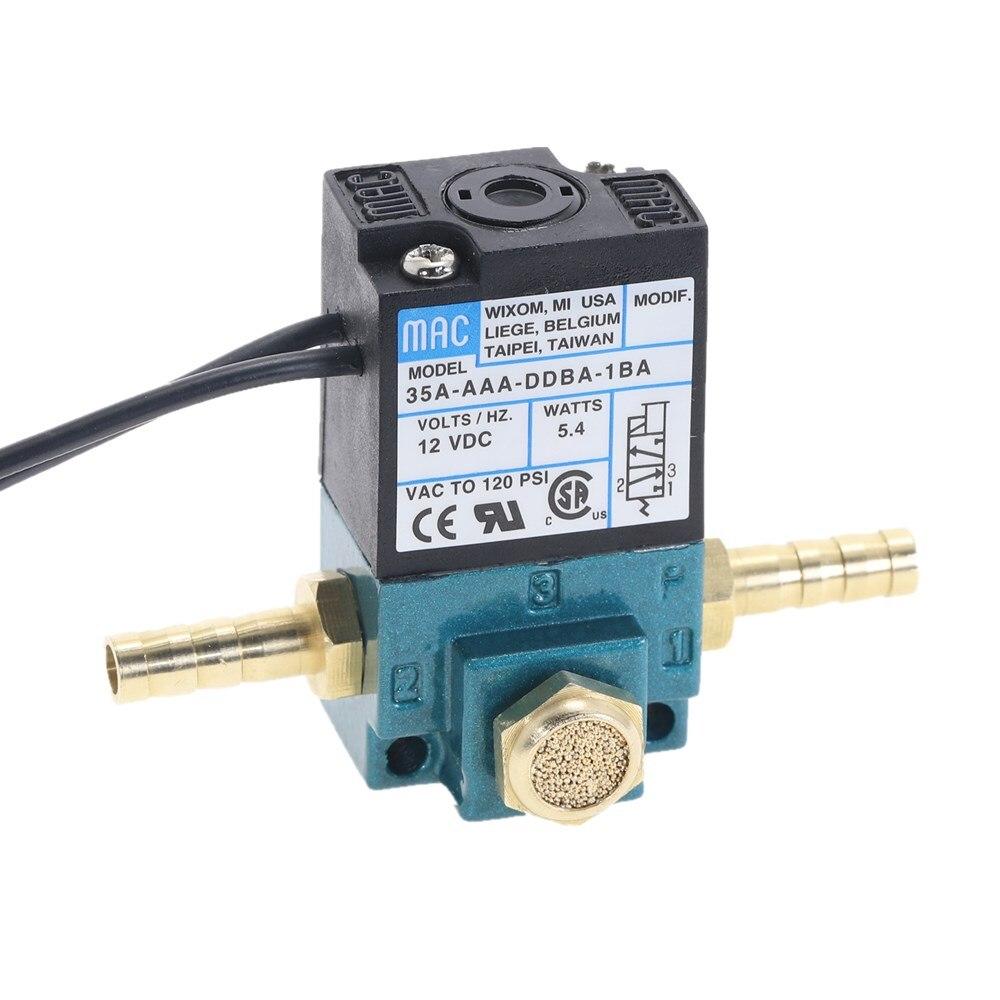 Электромагнитный клапан MAC с 3 портами и электронным усилителем, 35A-AAA-DDBA-1BA 1/8 ''NPT с латунным глушителем