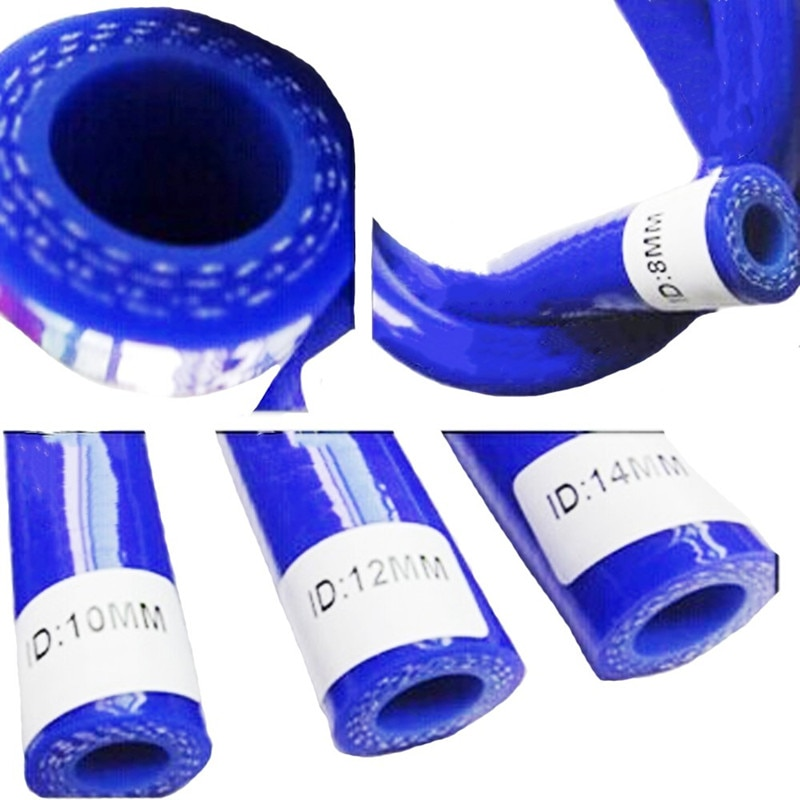 SPSLD 20mm 3 capas de poliéster 1 metro manguera recta de silicona azul tubo de gel de sílice para motor de coche tubo de alta temperatura Universal