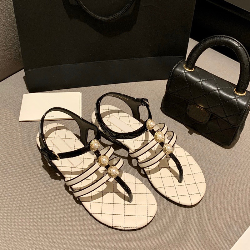 100% High-quality Brand Flat Platform Sandals Woman Shoes Fashion Ladies Party Dress Shoes Woman Sum