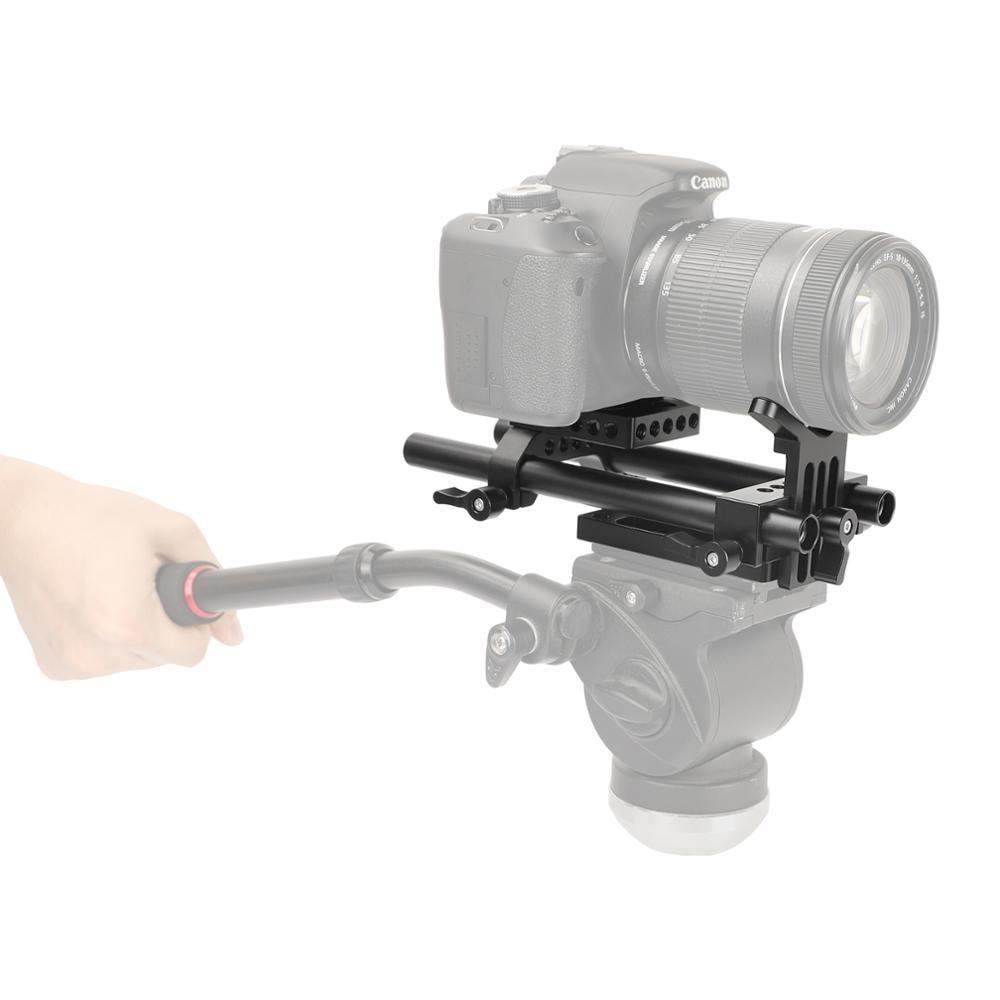HDRIG Pro DSLR Shoulder Mount Support Rig Kit Baseplate Kit Tripod Mount For Universal Use DSLR Cameras enlarge